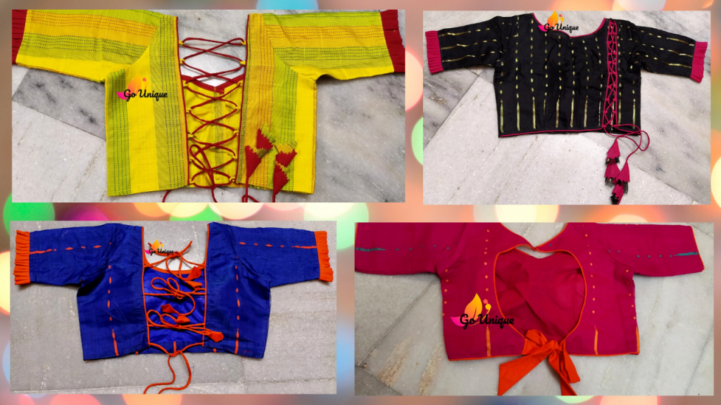 latest blouse designs for back to look Gorgeous